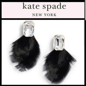 Kate Spade In Full Feather Stud Earrings